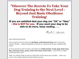 Go to: Go Beyond Dog Obedience Training!