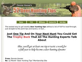 Go to: 52 Deer Hunting Tips