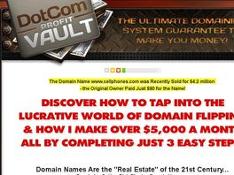 Go to: Domain Flipping With Dotcomprofitvault