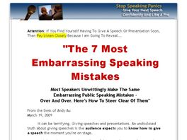 Go to: The 7 Most Embarrassing Speech Mistakes.