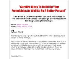 Go to: Keeping Positive Friends For The Long Term!