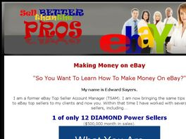Go to: Sell Better Than The Pros On eBay(R).