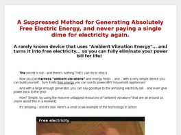 Go to: New Free Energy Product - July 2010 - First Offer Of This Type