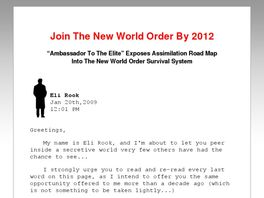 Go to: The New World Order Assimilation Dossier