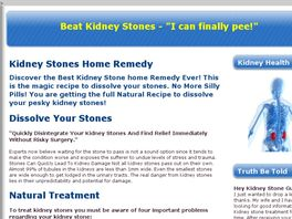 Go to: Naturally Remove Kidney Stones - Surgeons Hate Me For This!