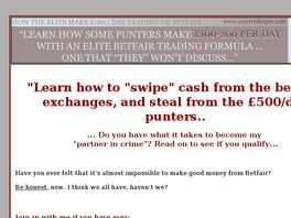 Go to: Easy Trader Horse Racing Betting System.