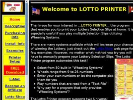 Go to: Lotto Printer - Lottery Software.