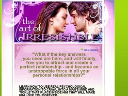 Go to: Art Of Irresistible: How To Seduce A Man And Captivate Him Forever