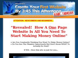 Go to: Create Your First Website By 3:45 This Afternoon...the Videos