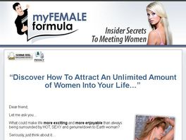 Go to: Myfemaleformula - The #1 Ebook On Dating, And Picking Up Women