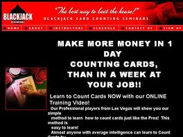 Go to: Make more money counting cards in a day, than a week at your job