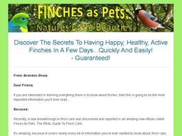 Go to: Finches As Pets: The Real Guide To Finch Care