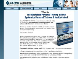 Go to: The Affordable Personal Training Income System For Trainers & Clubs