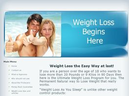 Go to: Lose Weight as You Sleep