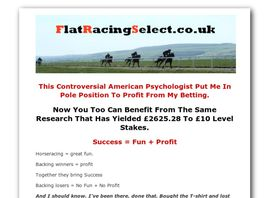 Go to: Flat Racing Select.