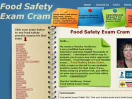 Go to: Food Safety Exam Practice Tests.