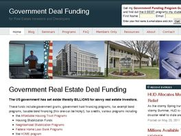 Go to: Government Deal Funding For Real Estate Investors And Developers