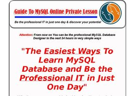 Go to: Easy Learning Mysql Database Less Than 24 Hours