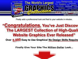 Go to: Largest Graphics Collection For Websites, No Design Skills Required!
