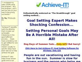 Go to: Achieve-it! Goal Setting Software.