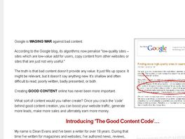 Go to: The Good Content Code