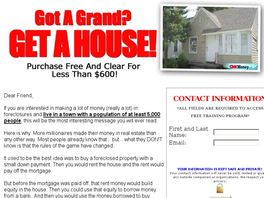 Go to: Got A Grand, Buy A House.