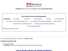Go to: How To Secure A Job With The Canadian Government