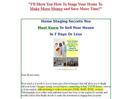 Go to: Home Staging Secrets To Sell In 7 Days Or Less