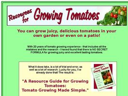 Go to: A Resource Guide to Growing Tomatoes