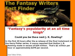 Go to: The Fantasy Writers Fact Finder.