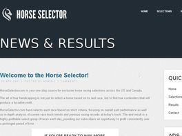 Go to: The Horse Selector