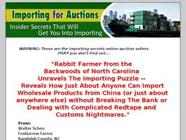 Go to: Importing For Auctions