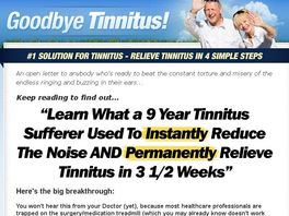 Go to: Highest Converting Tinnitus Product - Period