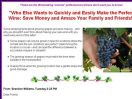 Go to: Wine From Grapes: Growing Grapes & Making Wine.