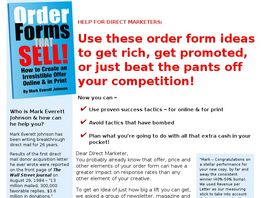 Go to: Order Forms That Sell!
