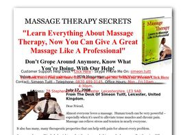 Go to: How To Massage EBook - How To Massage Therapy Techniques.