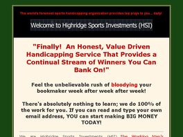 Go to: We are Hsi Sports Investments-The Working Man's Handicapping Service
