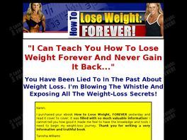 Go to: How To Lose Weight, Forever!