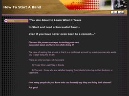Go to: How To Start A Band - The User Guide for starting your new band.