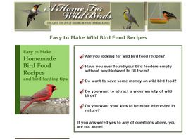 Go to: Wild Bird Food Recipes.