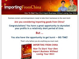 Go to: Importing From China Ebook