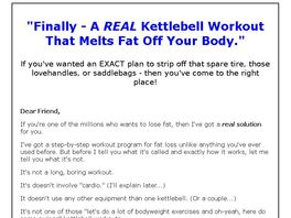Go to: Kettlebell Burn - The Ultimate Kettlebell Fat Burning Program