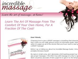 Go to: Incredible Massage Guide - Earn 60% Commission