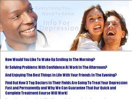 Go to: The Only 'cure Depression' Site That Has Over 5% Conversion Rate