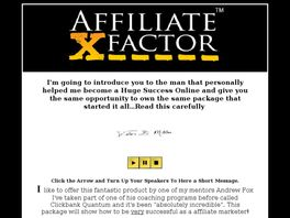 Go to: Affiliate X Factor