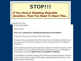 Go to: Wedding Etiquette Secrets