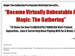 Go to: Joe Soh's Magic The Gathering Guide