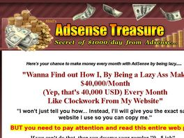 Go to: Money Making Adsense Treasure System - Gold Pack