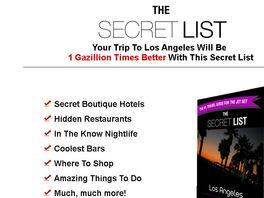 Go to: Los Angeles Travel Guide Book Secret List