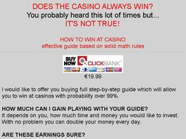 Go to: How to win at casino with almost 99% probability?
